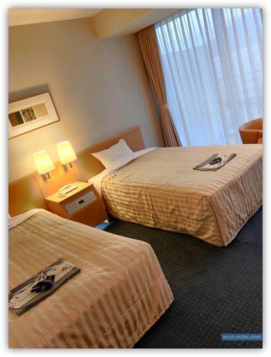 マリンパレス鹿児島客室ベッド