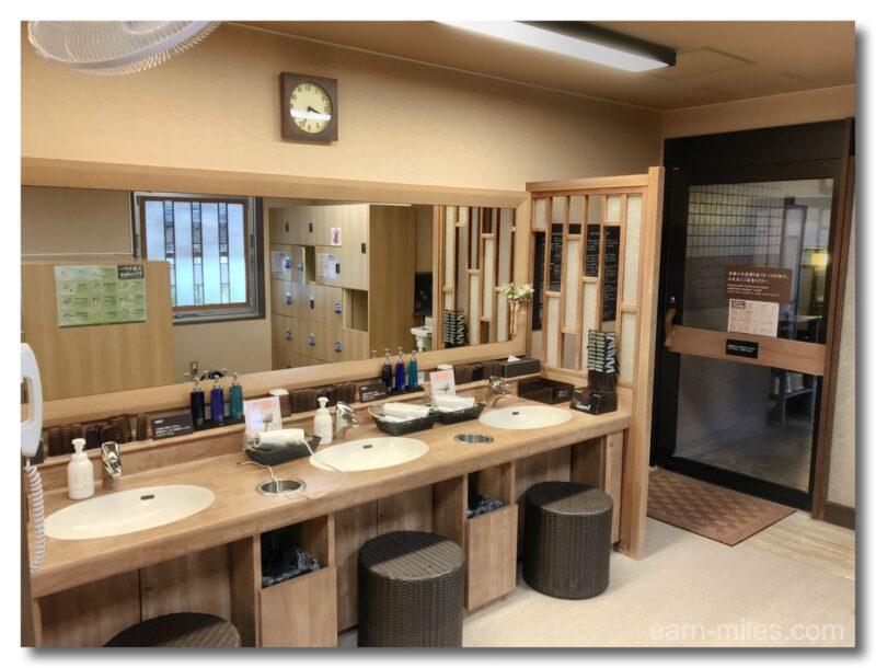 ドーミーイン鹿児島大浴場洗面台